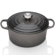 Le Creuset Signature Cast Iron Round Casserole Dish - 20cm - Flint