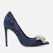 KG Kurt Geiger Women's Bow Patterned Court Shoes - Blue