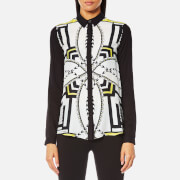 Versace Jeans Women's Printed Shirt - Yellow Acid