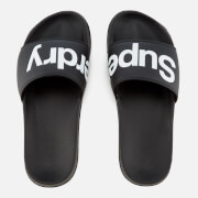 Superdry Men's Pool Slide Sandals - Black/Optic