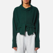 House of Sunny Women's Volume Extended Sleeve Rib Jumper - Organic Green