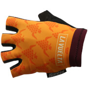 Santini La Vuelta 2017 Stage 16 Rioja Race Gloves - Purple/Orange
