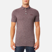 Superdry Men's Classic Grindle Pique Polo Shirt - Port Grindle Slub