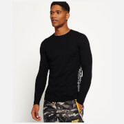 Superdry Men's Merino Base Layer Crew Neck Top - Black