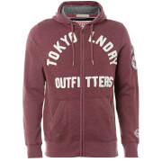 Tokyo Laundry Men's Mount Chippewa Zip Through Hoody - Oxblood Marl