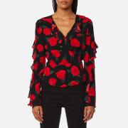 Guess Women's Long Sleeve Antonietta Top - Sensual Roses