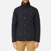 Joules Men's Short Length Quilted Jacket - Marine Navy