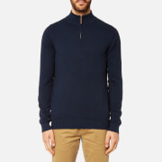 Joules Men's Half Zip Funnel Neck Jumper - French Navy Marl