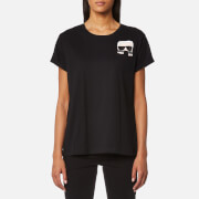 Karl Lagerfeld Women's Ikonik Karl Pocket T-Shirt - Black