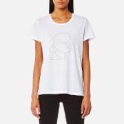 Karl Lagerfeld Women's Ikonik Karl Lightning Bolt T-Shirt - White