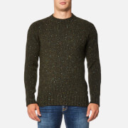 Barbour Men's Netherby Crew Neck Knitted Jumper - Forest