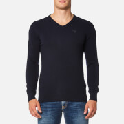 Barbour Men's Essential Lambswool V Neck Knitted Jumper - Navy