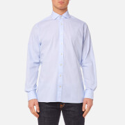 Hackett Men's End on End Long Sleeve Shirt - Sky