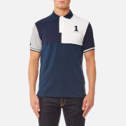 Hackett Men's Multi Piecing Short Sleeve Polo Shirt - Navy/Multi