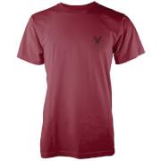 Native Shore Männer T-Shirt Surfs Up Pocket Print - Burgund