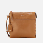 DKNY Women's Chelsea Pebbled Leather Top Zip Cross Body Bag - Camel