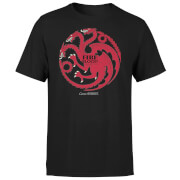 T-Shirt Homme Game of Thrones Targaryen Fire & Blood - Noir