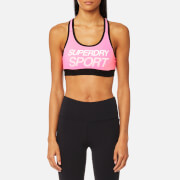 Superdry Sport Women's Essential Graphic Bra - Pop Pink