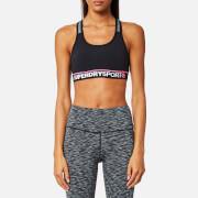 Superdry Sport Women's Essential Bra - Black/Speckle Charcoal
