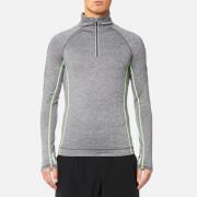 Superdry Sport Men's Sport Athletic 1/2 Zip Henley Top - Mid Grey Grit