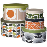 Orla Kiely Assorted Stem Cake Tin - Multi (Set of 5)