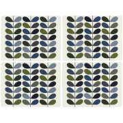 Orla Kiely Placemats - Khaki Marine (Set of 4)