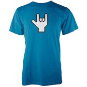 Camiseta Rockero Píxel - Hombre - Azul