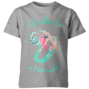 My Little Rascal I'd Rather Be A Mermaid Kid's Grey T-Shirt