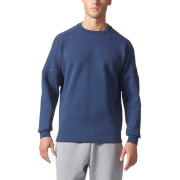 adidas Men's ZNE Training Crew Sweatshirt - Navy