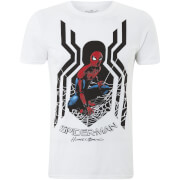 Marvel Spider-Man Homecoming Spider Symbol Männer T-Shirt - Weiß