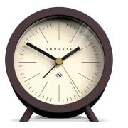 Newgate Fred Barrel Silent Alarm Clock - Chocolate Black