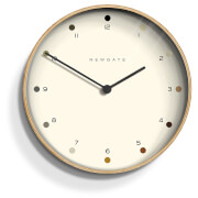 Newgate Mr Clarke Wall Clock - Pale Wood - Dot Dial
