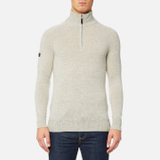 Superdry Men's Harlo Henley Jumper - Porridge