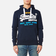 Superdry Men's Sweat Shirt Store Tri Hoody - Blue Black Grit
