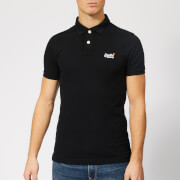 Superdry Men's Classic Pique Polo Shirt - Black