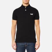 Superdry Men's Classic Pique Short Sleeve Polo Shirt - Black