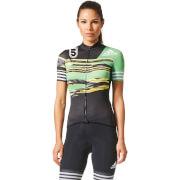 adidas Women's Adistar Jersey - Black/Green