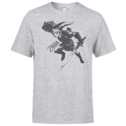 Nintendo Legend Of Zelda Link Men's Light Grey T-Shirt