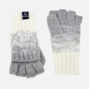 Superdry Women's Clarrie Cable Gloves - Light Grey Ombre