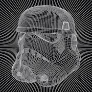 Affiche sur Toile Star Wars Stormtrooper Wire - 40 x 40cm