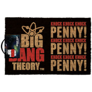 The Big Bang Theory Knock Knock Knock Doormat