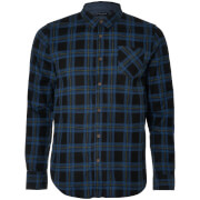 Brave Soul Men's Duffey Check Shirt - Black/Blue/Yellow