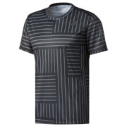 adidas Men's Response Running Printed T-Shirt - Black/White