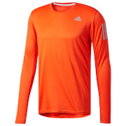adidas Men's Response Long Sleeved Running Top - Orange