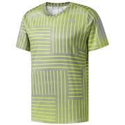 adidas Men's Response Running Printed T-Shirt - Yellow/Grey