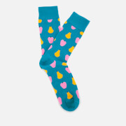 Happy Socks Men's Fruit Pattern Socks - Blue - EU 41-46