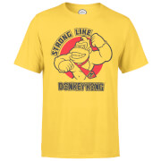 Nintendo Strong Like Donkey Kong Men's Yellow T-Shirt