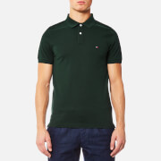 Tommy Hilfiger Men's Luxury Slim Fit Short Sleeve Polo Shirt - Scarab