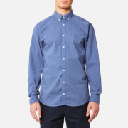 Tommy Hilfiger Men's Heather Long Sleeve Shirt - Maritime Blue Heather