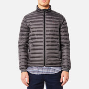 Tommy Hilfiger Men's Lightweight Packable Down Bomber Jacket - Magnet